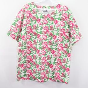 Vintage New Lilly Pulitzer Floral Print Shirt Top